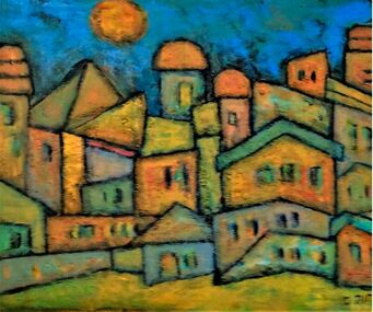 Expressionist Abstract Cityscape
